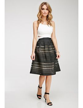 ornate-organza-striped-skirt by forever-21