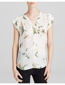 bartella-botanical-floral-silk-top by joie