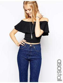asos-tall-exclusive-off-the-shoulder-boho-top by asos