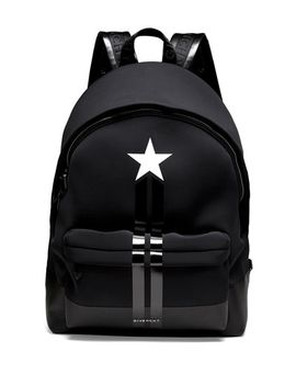 star_stripe-neoprene-backpack by givenchy