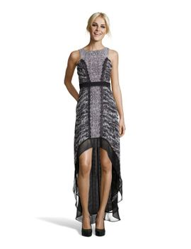 black-and-grey-woven-multi-print-sienna-hi-low-dress by bcbgmaxazria
