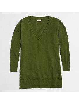 slub-cotton-v-neck-sweater by jcrew