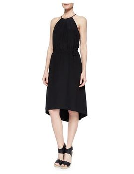 florilege-halter-high-low-dress by joie