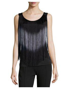 fringe-tank-top,-black by neiman-marcus