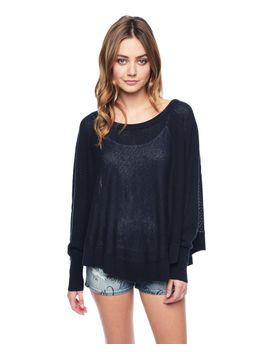 outlet---mesh-stitch-raglan-cashmere--poncho by juicy-couture