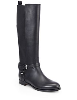 sadona-leather-&-stretch-boots by ralph-lauren