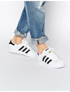adidas-originals-superstar-white-&-black-trainers by adidas