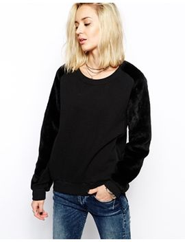 religion-enemy-oversized-sweatshirt-with-fluffy-fur-sleeves by religion
