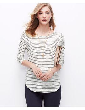 striped-shirttail-tee by ann-taylor