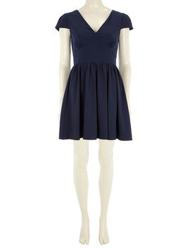 mela-navy-tie-back-dress by dorothy-perkins