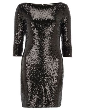 alice-&-you--petite-black-sequin-bodycon-dress by dorothy-perkins