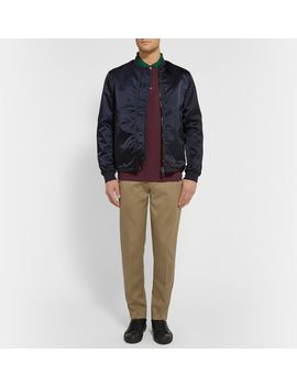 cone-tapered-cotton-blend-twill-trousers by acne-studios