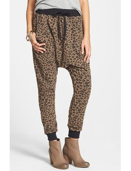 leopard-knit-jogger-pants by joypeace