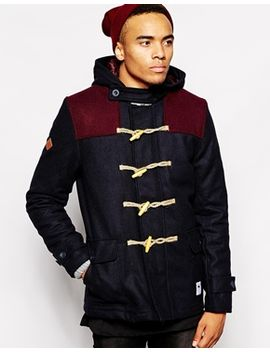 bellfield-wool-duffle-with-contrast-yoke-panels by bellfield