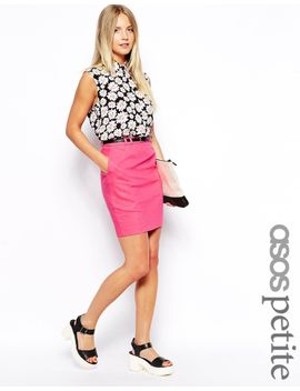 asos-petite-exclusive-linen-pencil-skirt-with-belt by asos-petite