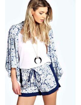 paige-paisley-print-contrast-trim-runner-shorts by boohoo