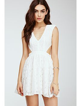 floral-lace-cutout-dress by forever-21