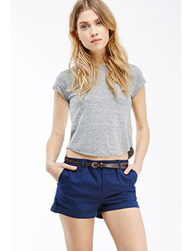belted-chino-shorts by forever-21