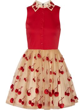 cherry-pouf-cotton-blend-and-tulle-dress by alice-+-olivia