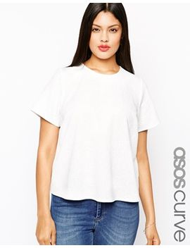 asos-curve-boxy-t-shirt-in-floral-texture by asos-curve