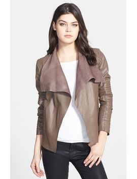 paneled-leather-jacket by trouvÉ