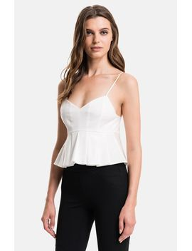 pleated-poplin-crop-top by 1state