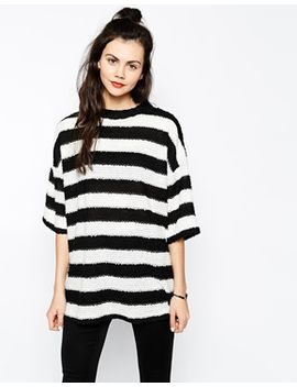 monki-kimono-sleeve-stripe-sweater by monki