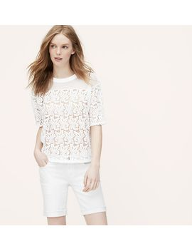 lace-blossom-tee by loft