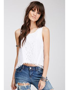 crochet-overlay-top by forever-21