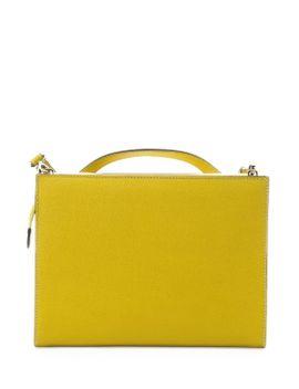citron-leather-demi-jour-split-shoulder-bag by fendi