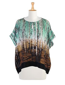 landscape-print-cold-shoulder-top by eshakti