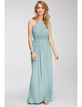 cutout-halter-maxi-dress by forever-21