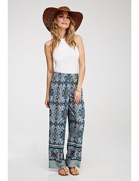 ornate-kaleidoscope-print-pants by forever-21