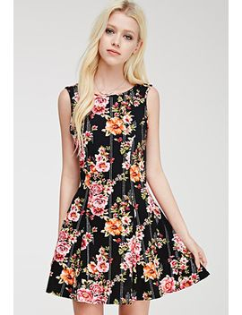 fluted-floral-print-dress by forever-21