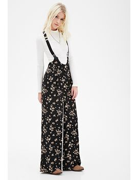 clustered-rose-print-overalls by forever-21