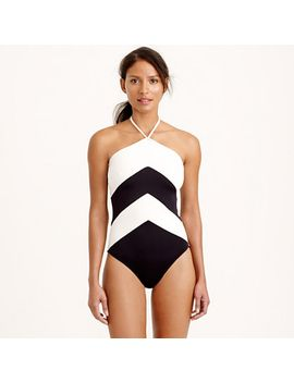 chevron-halter-one-piece-swimsuit by jcrew