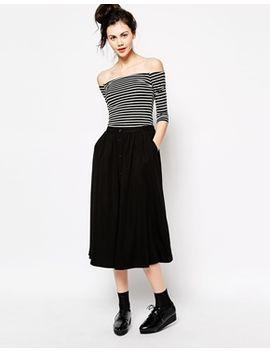 monki-button-midi-skirt by monki