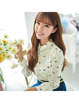 bongja-shop---animal-print-chiffon-blouse by brand-from-south-korea