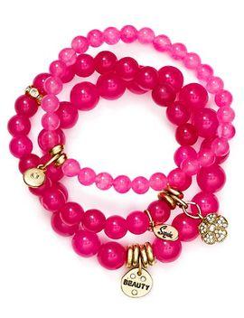 beauty-flower-bracelets,-set-of-3 by sequin