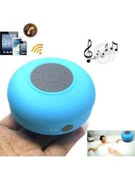 tmvel-wireless-bluetooth-waterproof-shower-speaker-with-dedicated-suction-cup---retail-packaging---blue by tmvel