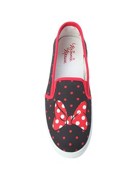 disney-minnie-mouse-slip-on-sneakers by hot-topic