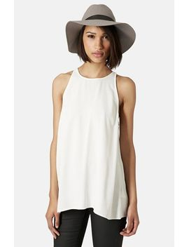 milo-split-back-sleeveless-top by topshop