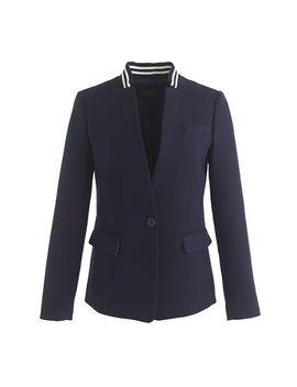 rib-trim-regent-blazer by jcrew