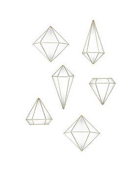 umbra-prisma-decorative-accents,-set-of-6,-brass by umbra