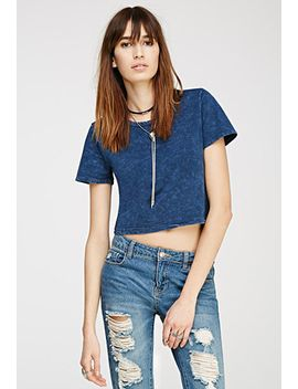 mineral-wash-crop-top by forever-21