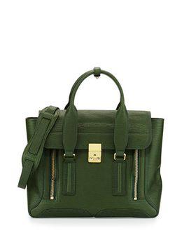 pashli-medium-zip-satchel-bag,-jade by 31-phillip-lim