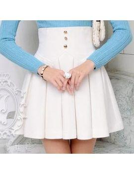 dabuwawa---high-waist-pleated-a-line-skirt by dabuwawa