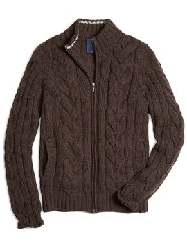 cashmere-zip-front-cable-cardigan by brooks-brothers