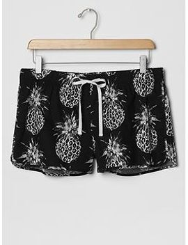 printed-poplin-shorts by gap
