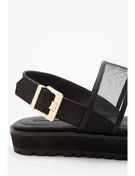 mesh-strap-flatform-sandals by forever-21